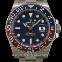 Rolex GMT-Master II Oro blanco 40mm Azul