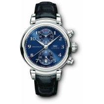 IWC Da Vinci Chronograph Çelik 42mm Mavi Arap rakamları