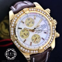Breitling Yellow gold Automatic Mother of pearl No numerals 44mm new Chronomat Evolution