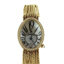 Breguet Reine de Naples pre-owned 28.5mm Mother of pearl Yellow gold
