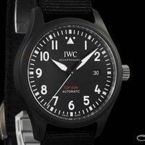 IWC Cerámica Automático Negro Arábigos 41mm usados Pilot Chronograph Top Gun