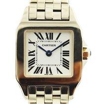 Cartier Rose gold Quartz White 20mm pre-owned Santos Demoiselle