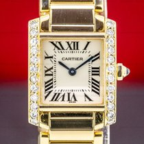 Cartier Tank Française Yellow gold 20mm Silver Roman numerals United States of America, Massachusetts, Boston