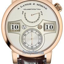 A. Lange & Söhne Rose gold Manual winding Silver 41.9mm new Zeitwerk