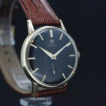 Omega Handaufzug cal.266 Black Dial 14Kt Massiv Gold anno  1959