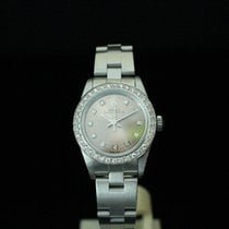 Rolex Oyster Perpetual 76080 Lady diamond dial and dial bezel