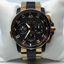 Corum Admiral's Cup Rattrapante 18k Rose Gold and Rubber Strap