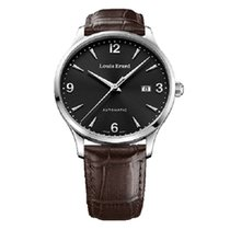 Louis Erard Steel Automatic Black 40mm new 1931