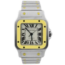 Cartier Santos Galbée Gold/Steel 32mm Silver Roman numerals United States of America, California, Fullerton