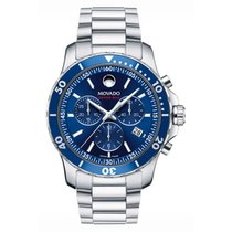 Movado Series 800 Staal 42mm Blauw