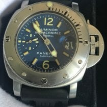 Panerai Luminor Submersible Acero 44mm Azul