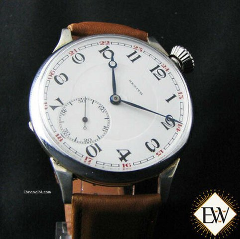 Serviced Large Wwi Vintage Drivers Officers 20 Pilot Type Watch Antique Zenith qGpSzUMV