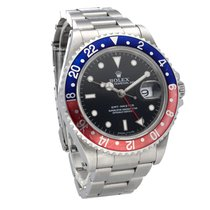 Rolex GMT-Master Stål 40,00mm Sort Ingen tal