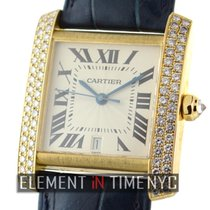 Cartier Tank Collection 18k Yellow Gold Diamond Case 28mm