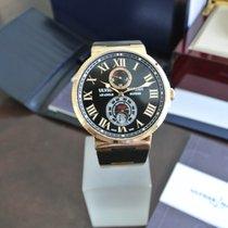 Ulysse Nardin Marine Chronometer 43mm Or rose 43mm Noir Romains
