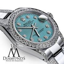 Rolex Сталь Автоподзавод Синий 31mm подержанные Lady-Datejust