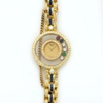 Chopard Yellow Gold Happy Diamonds Sapphire & Diamond Watch