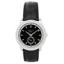 Rolex Cellini Cellinium Men's Platinum Watch with Black Dial...