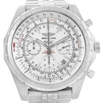 Breitling Bentley Motors T Silver Dial Chronograph Mens Watch...