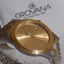 Grovana Yellow gold 39mm Quartz 1514.1T new