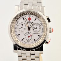 Michele Sport Sail Diamond Chronograph Stainless Mw01c01d9001...