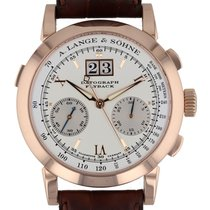 A. Lange & Söhne Datograph Rose gold 39mm Silver United States of America, Massachusetts, Boston
