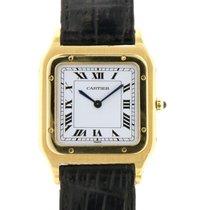 Cartier Santos Dumont Жёлтое золото 27mm Белый Римские