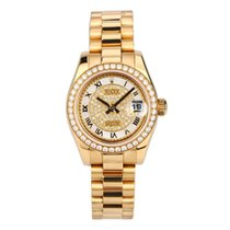Rolex Yellow gold Automatic Mother of pearl Roman numerals 26mm pre-owned Lady-Datejust