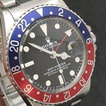 Rolex GMT-Master Stahl 40mm Schwarz Keine Ziffern