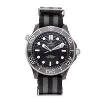 Omega Titanium Automatic Black No numerals 43.5mm pre-owned Seamaster Diver 300 M