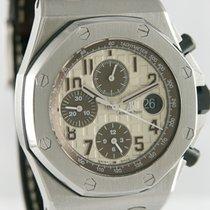 Audemars Piguet Royal Oak Offshore Chronograph gebraucht 42.5mm Silber Chronograph Datum Krokodilleder