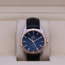 Omega Globemaster Gold/Steel 39mm Blue No numerals