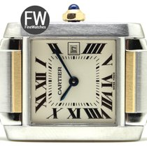 Cartier Tank Francaise Midsize Steel & Gold