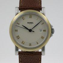 Nivrel Goud/Staal 30mm Automatisch N811.001 tweedehands Nederland, Nijmegen  (www.horloge-sieraden.nl)