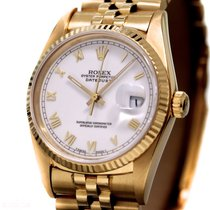 Rolex Datejust Man´s Size Ref-16018 18K Yellow Gold Bj-1986