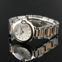 Cartier Ballon Blue Diamonds 750 Rose/ Steel Quart