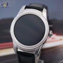 Montblanc Summit Smartwatch 46mm Steel on Black Calf Leather...