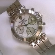 Pequignet Chronograph 37mm Automatic 1998 new Moorea White
