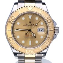 Rolex Oyster Yacht-Master Gold Steel Champaign Dial 40mm (Full...