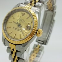 Rolex Datejust 18k Yellow Gold Two Tone 26 Mm Ladies Watch 69173