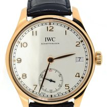 IWC Portuguese Hand-Wound Rose gold 43mm Silver Arabic numerals United States of America, New York, New York