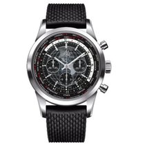Breitling AB0510U4/BE84/256S Steel Transocean Chronograph Unitime 46mm new