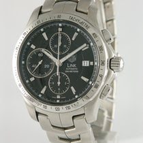 TAG Heuer Chronograph 42mm Automatic 2005 pre-owned Link Calibre 16 Black