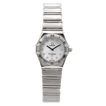Omega Constellation pre-owned 23mm Mother of pearl Steel