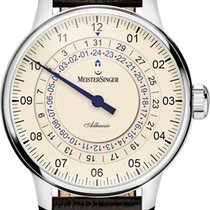 Meistersinger new Automatic Display back 43mm Steel Sapphire crystal