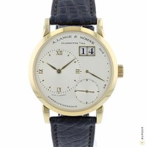 A. Lange & Söhne Yellow gold Manual winding Silver Roman numerals 36mm pre-owned Little Lange 1