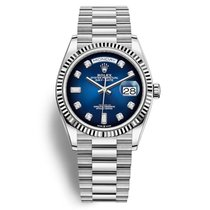 Rolex White gold Automatic Blue 36mm new Day-Date 36