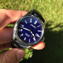 Seiko Presage Acier 40.5mm Bleu Romain