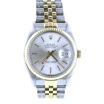 Rolex 36 mm two tone datejust watch