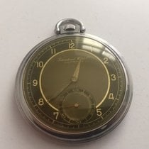 IWC Pocket Watch Stainless Steel Black  Dial made 1930's